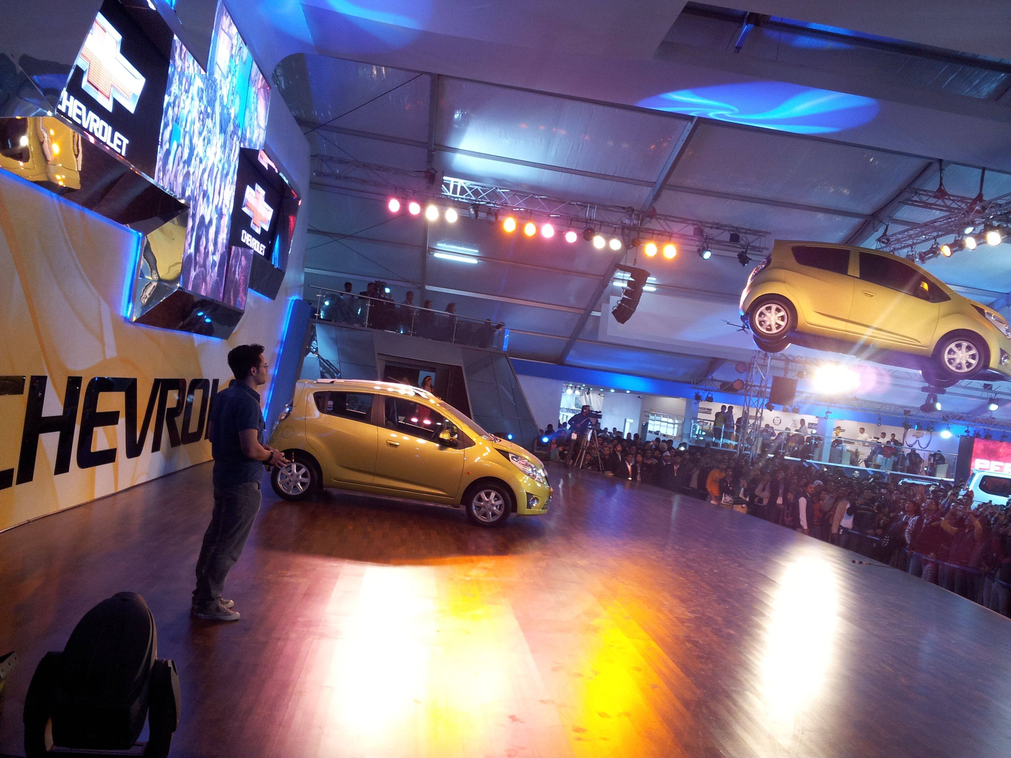 Flying Chevrolet Spark At Car Launch Event Experiential
