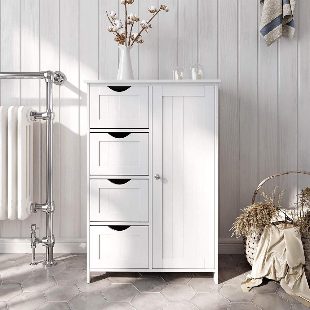 VASAGLE Sideboard Badezimmerschrank, Badschrank aus Holz
