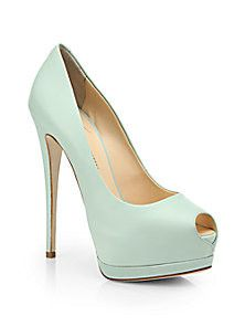 Giuseppe Zanotti - Leather Peep-Toe Platform Pumps - Saks Fifth Avenue Mobile