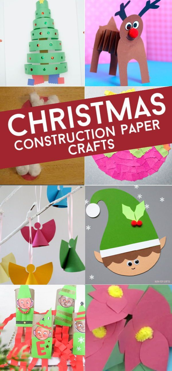 24 Easy Construction Paper Christmas Crafts -   18 christmas crafts for kids preschool ideas