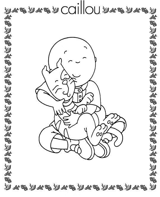 Disegni da colorare per bambini. Colorare e stampa Caillou 5 ...