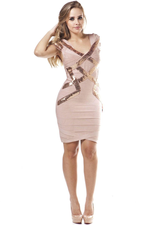 Vestido bandage rosê » Vestidos