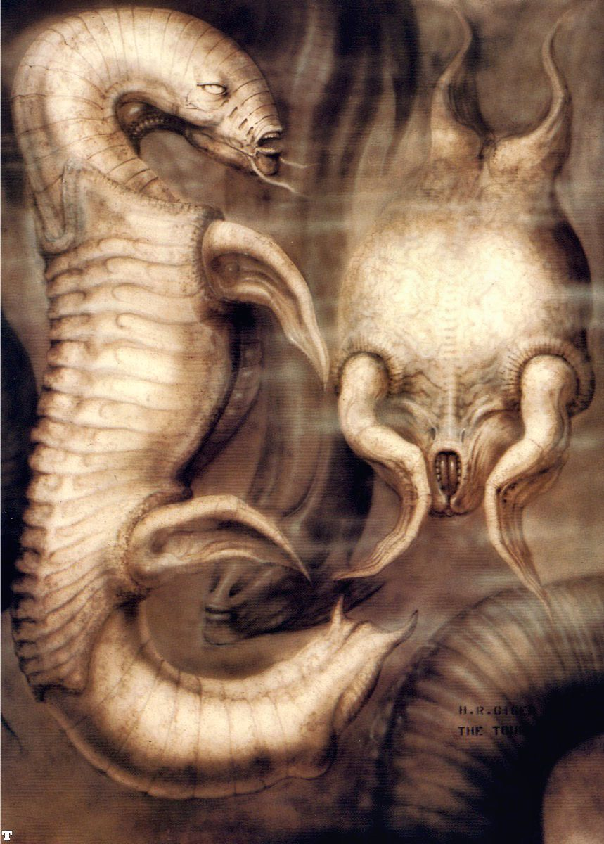 Hans Rüdi Giger: The Tourist VIII Two agnatic aliens