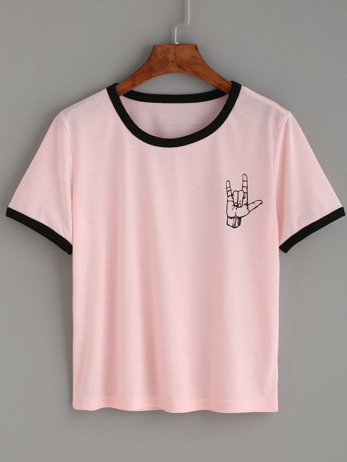 elegante Schuhe Großhandelsverkauf Kauf echt t shirt feminina rosa Hit na moda Gesto | t shirt feminina ...