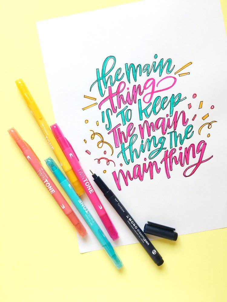 Colorful Lettering With Cricut Bright Pad And Tombow TwinTone