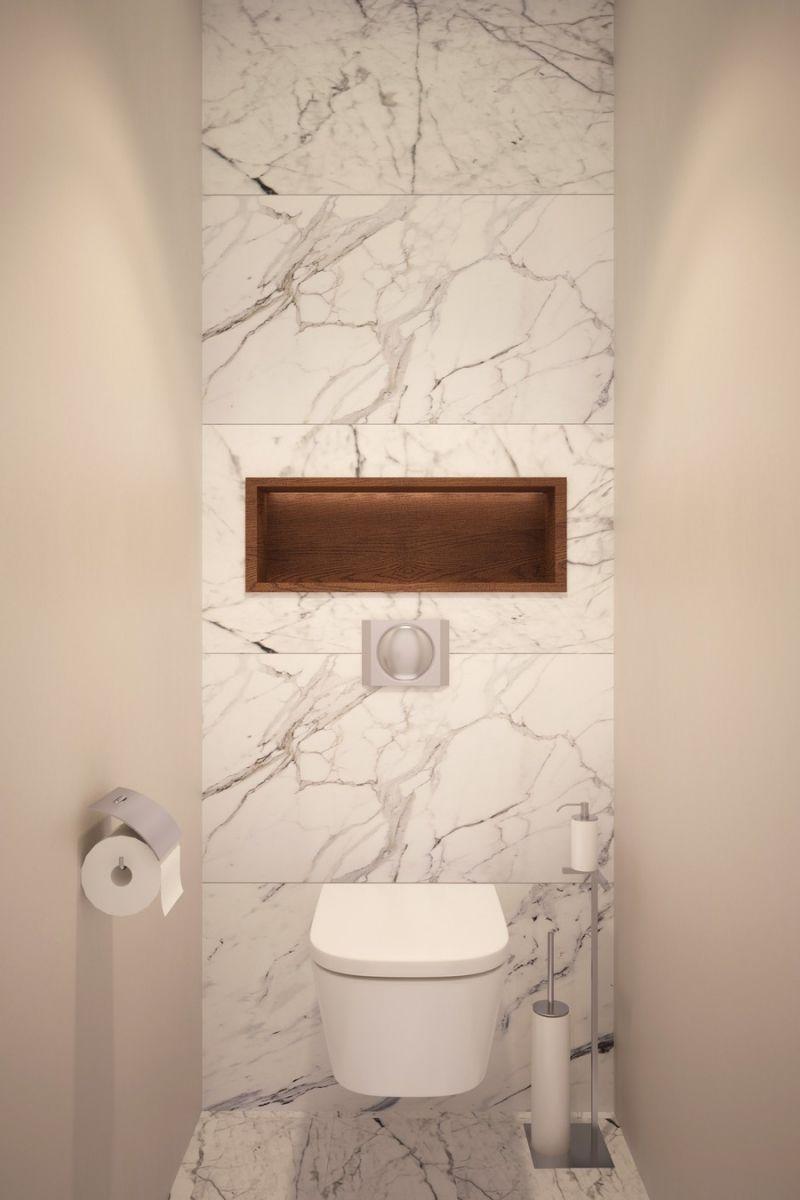 Marmer wand achter het toilet - badkamer | Badkamer | Pinterest ...