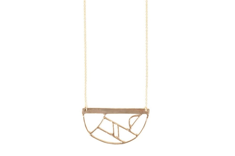 Image of Composition Necklace - Half Circle