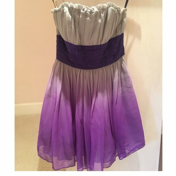 Dress Betsy Johnson ombré purple dress. Waist is tied in the back as a bow. Betsey Johnson Dresses Strapless