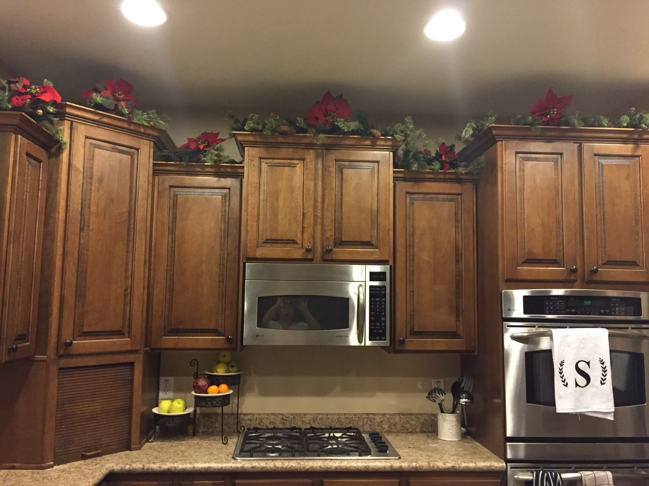 Above Cabinet Decoration For Christmas Christmas Kitchen Decor Holiday House Decor Christmas Kitchen