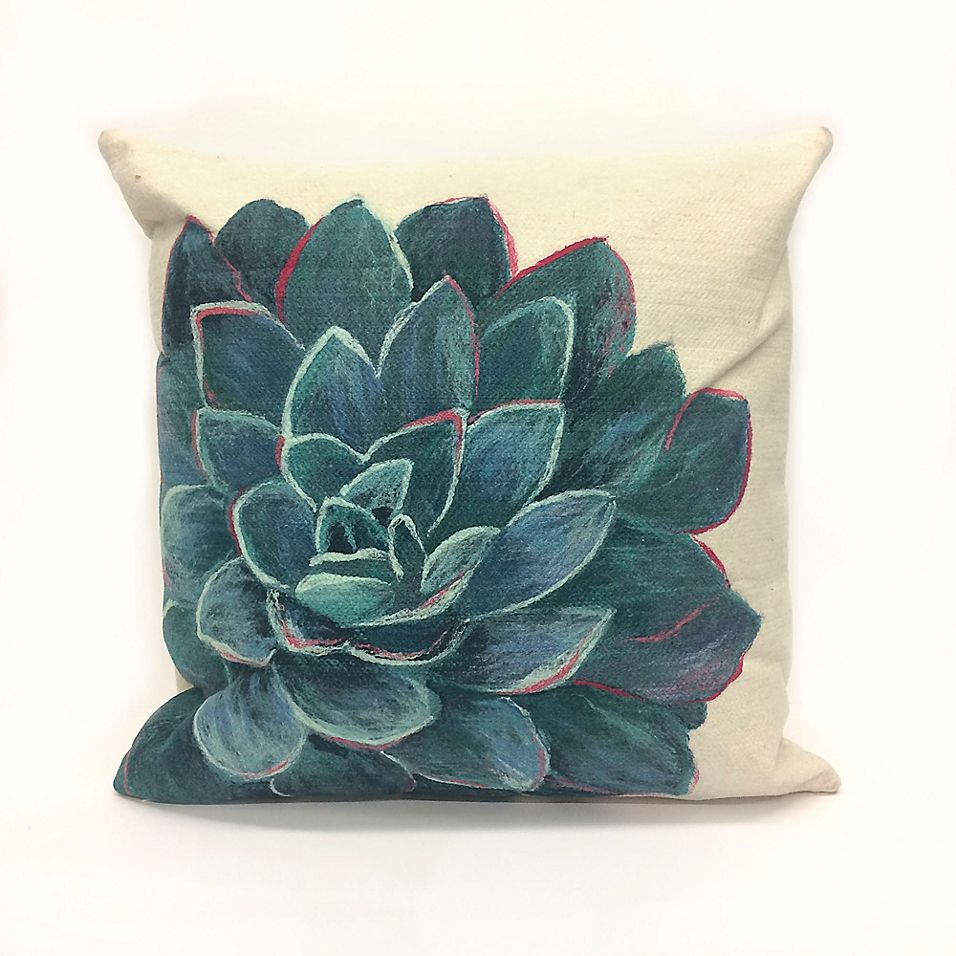 The Pillow Collection Liora Floral Stone Down Filled Throw Pillow
