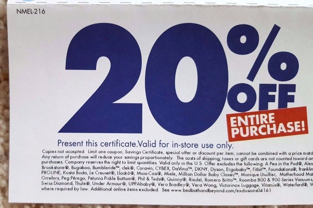 Bed Bath Beyond Coupon 20 Off Entire Purchase Savings Promo Deal