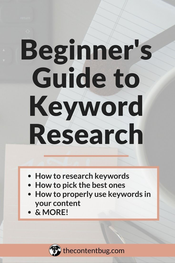 Beginner S Guide To Keyword Research Seo Tips Internet