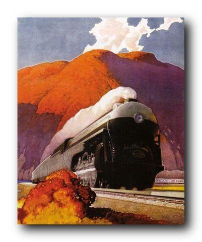 Steam Train Engine Vintage Locomotive Railway Wall Decor Art Print Poster 16x20