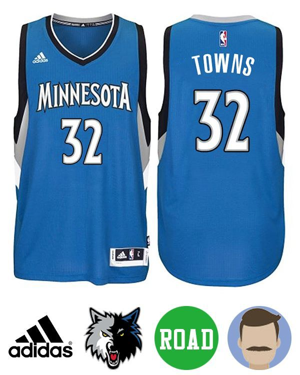 Sport this Men s Adidas Minnesota Timberwolves  32 Karl-Anthony Towns Blue New  Swingman Road Jersey while your team are heating up the stadium. 162e29809