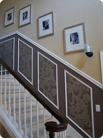 The many uses of wallpaper!! | Wallpaper | Home décor, Stairs, Home