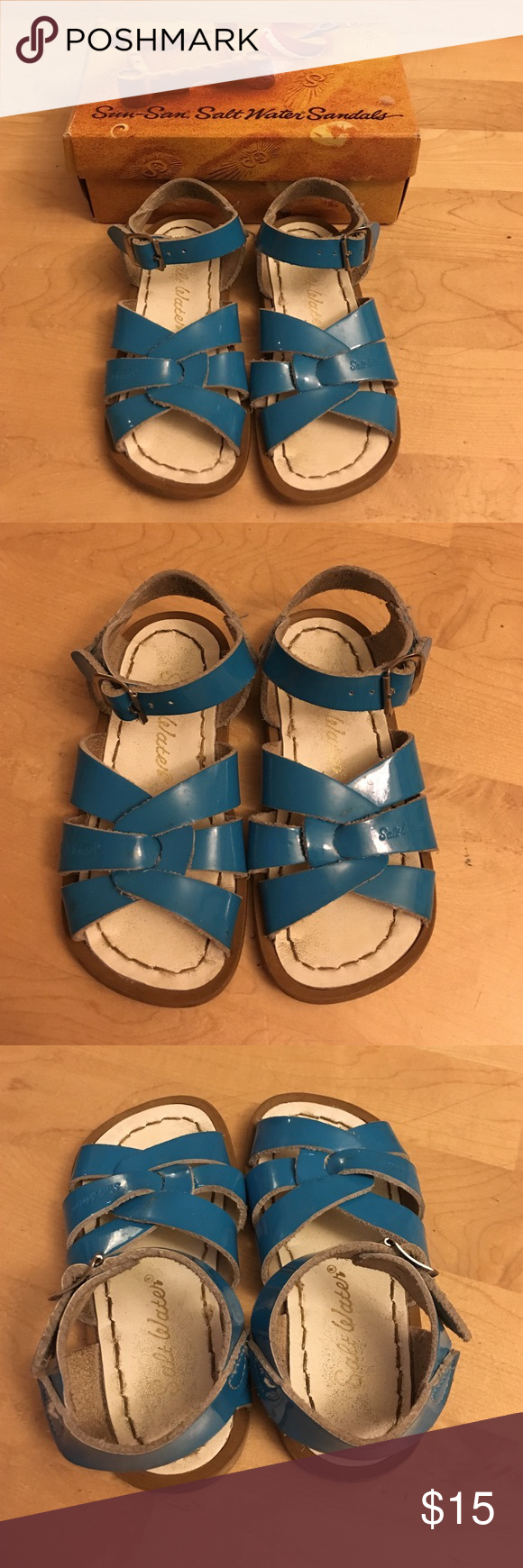 Salt water sandals hoy shoes size