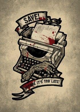 resident evil video game gamer typewriter zombie horror