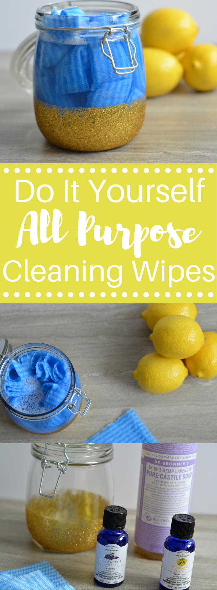 DIY All Purpose Cleaning Wipes Cleaning wipes, Cleaning