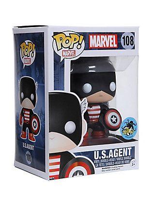Funko Marvel Pop! U.S. Agent Vinyl Bobble-Head Comikaze Exclusive,