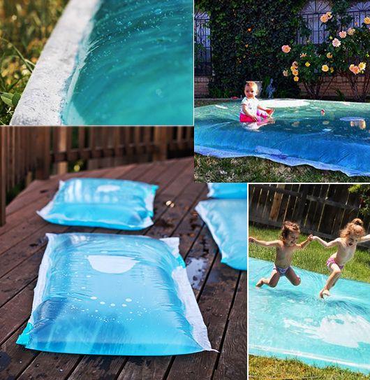 DIY-Wassermatratze-für-den-Spielplatz-im-Freienjpg (530×543 - wasserspiel fur kinder im garten