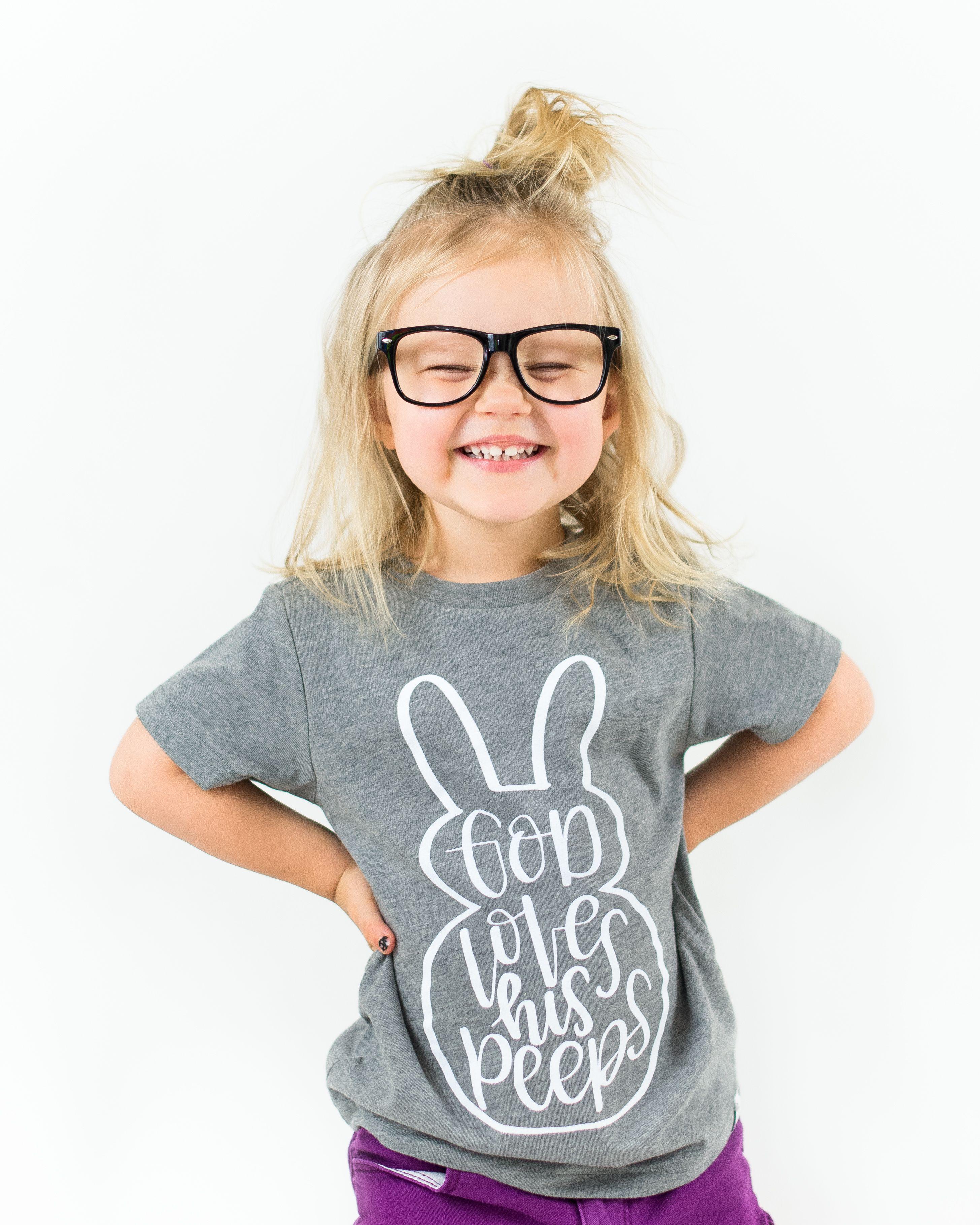 Download God loves his peeps shirt- Easter children shirt- Faith ...