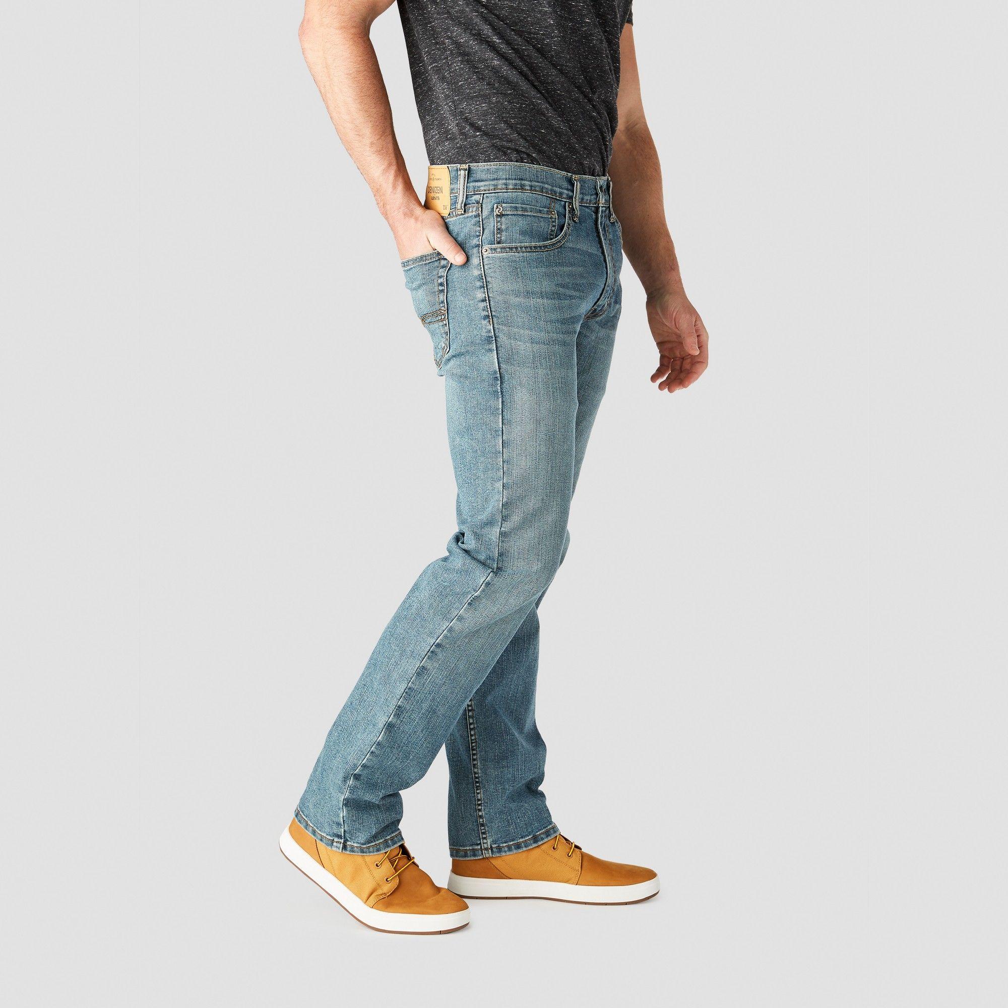 9d9ef9f43d10 Denizen from Levi s Men s 236 Regular Straight Fit Jeans - Medium Wash  38x30