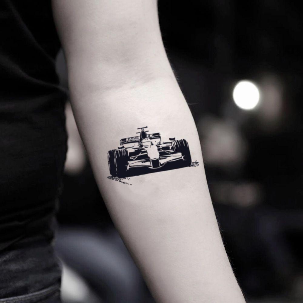 Race Car F1 Temporary Tattoo Sticker Set Of 2 Tatuaż