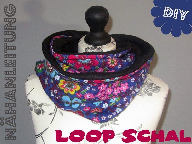 loop schal, halssocke, schlauch, rundschal, nähen, stoff, kinder ...