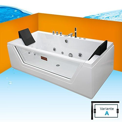 whirlpool badewanne wanne pool 2 personen heizung luxus led | bad, Gartengerate ideen