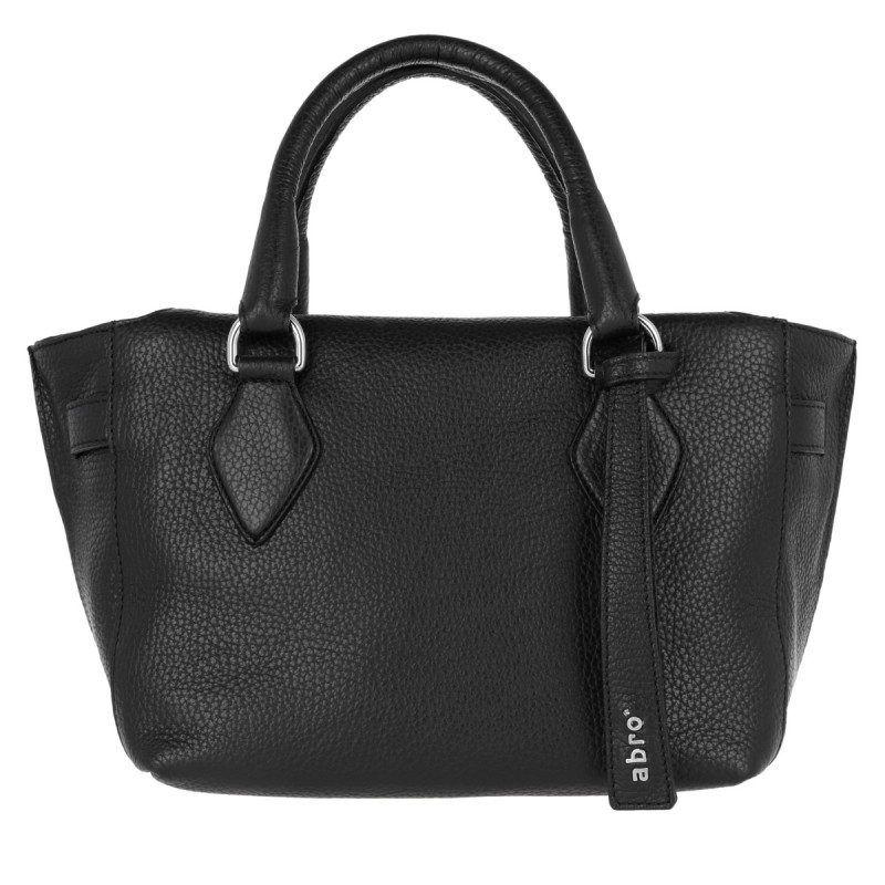 Abro Abro Tasche Adria Leather Mini Tote Black Nickel In