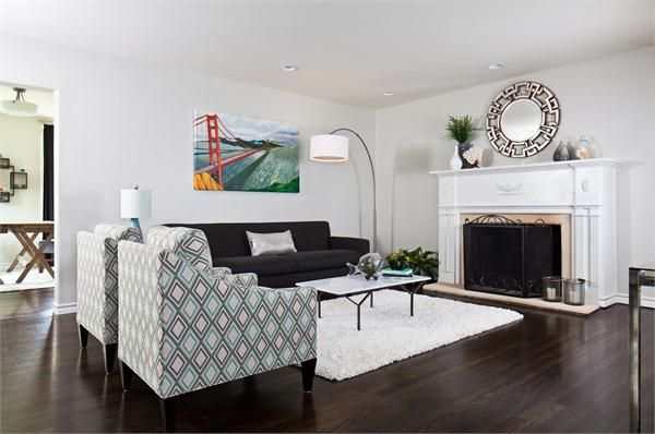 Transitional (Eclectic) Living Room by Alexis Lane