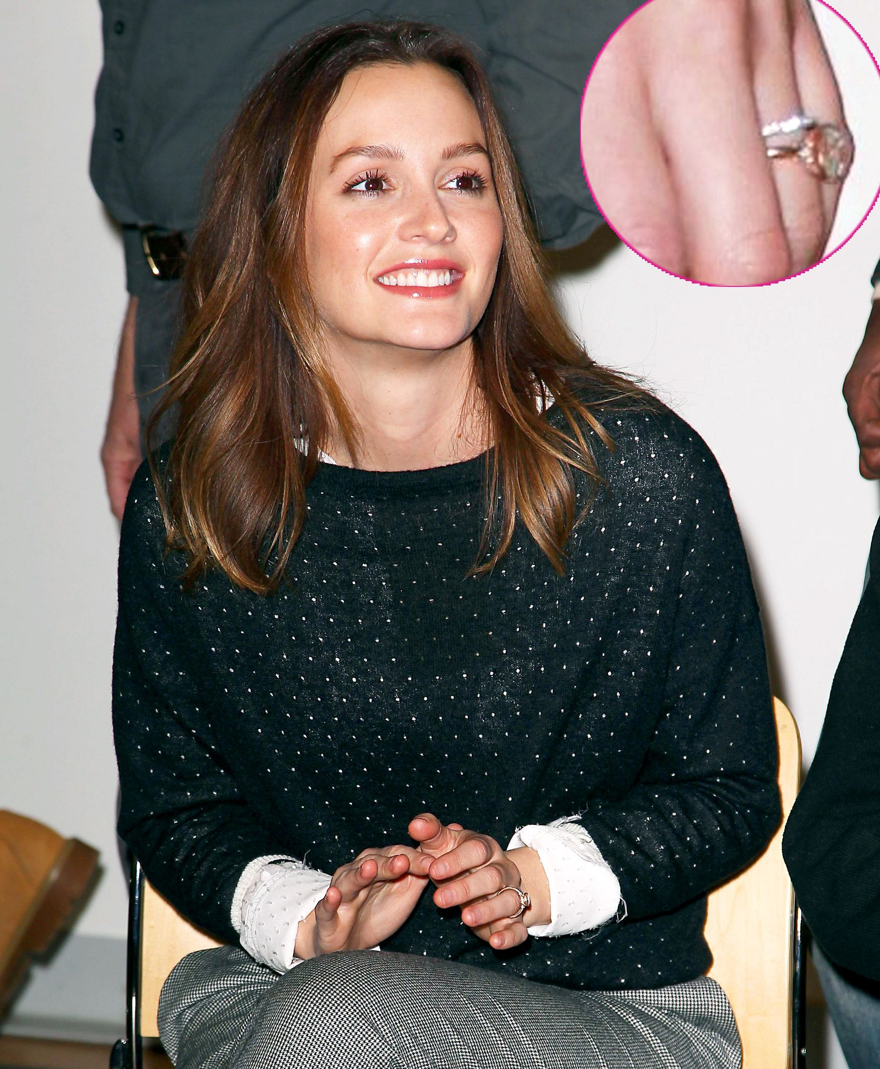 Leighton Meester Shows Off Wedding Ring After Marrying Adam Brody: Picture