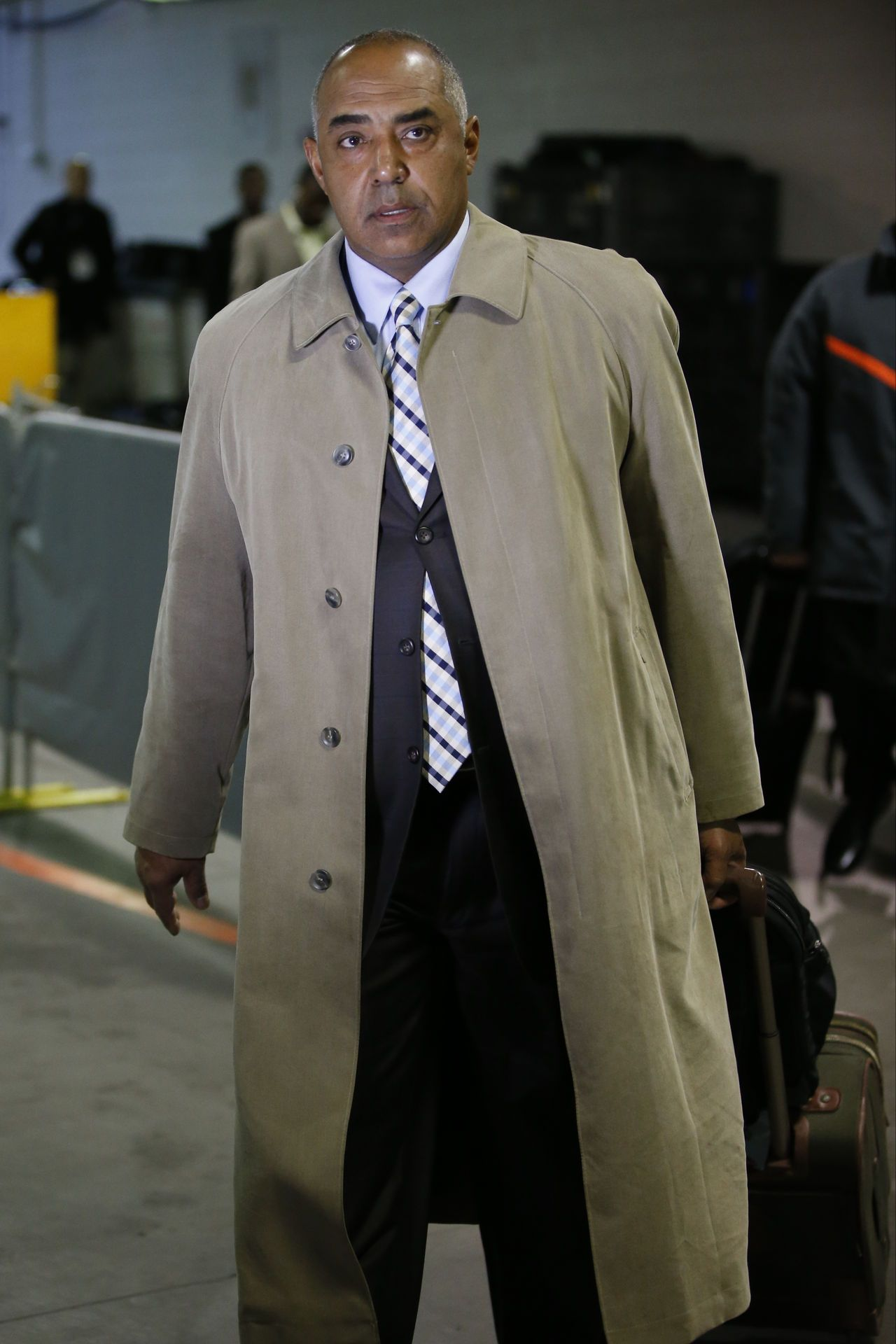 check out d5606 8f496 In this full-length trench coat, it's clear Marvin Lewis ...
