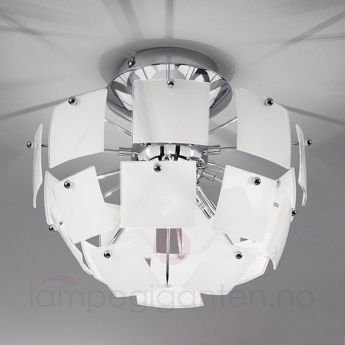 Ekstravagant URANIA taklampe i hvitt 3502171