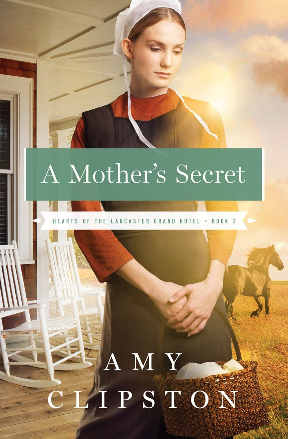 A Mother's Secret (Hearts of the Lancaster Grand Hotel #2) by Amy Clipston. Thirty-one-year-old Carolyn Lapp has never been married—but she's been a mother for fifteen years. In a community with strict standards and a long memory, Carolyn knows she might never find a man who will have her and her son, Benjamin. Carolyn's family tries to marry her off to a widower with a daughter who needs a mother. A marriage of convenience, yet Carolyn knows what she really wants ia a marriage for love.