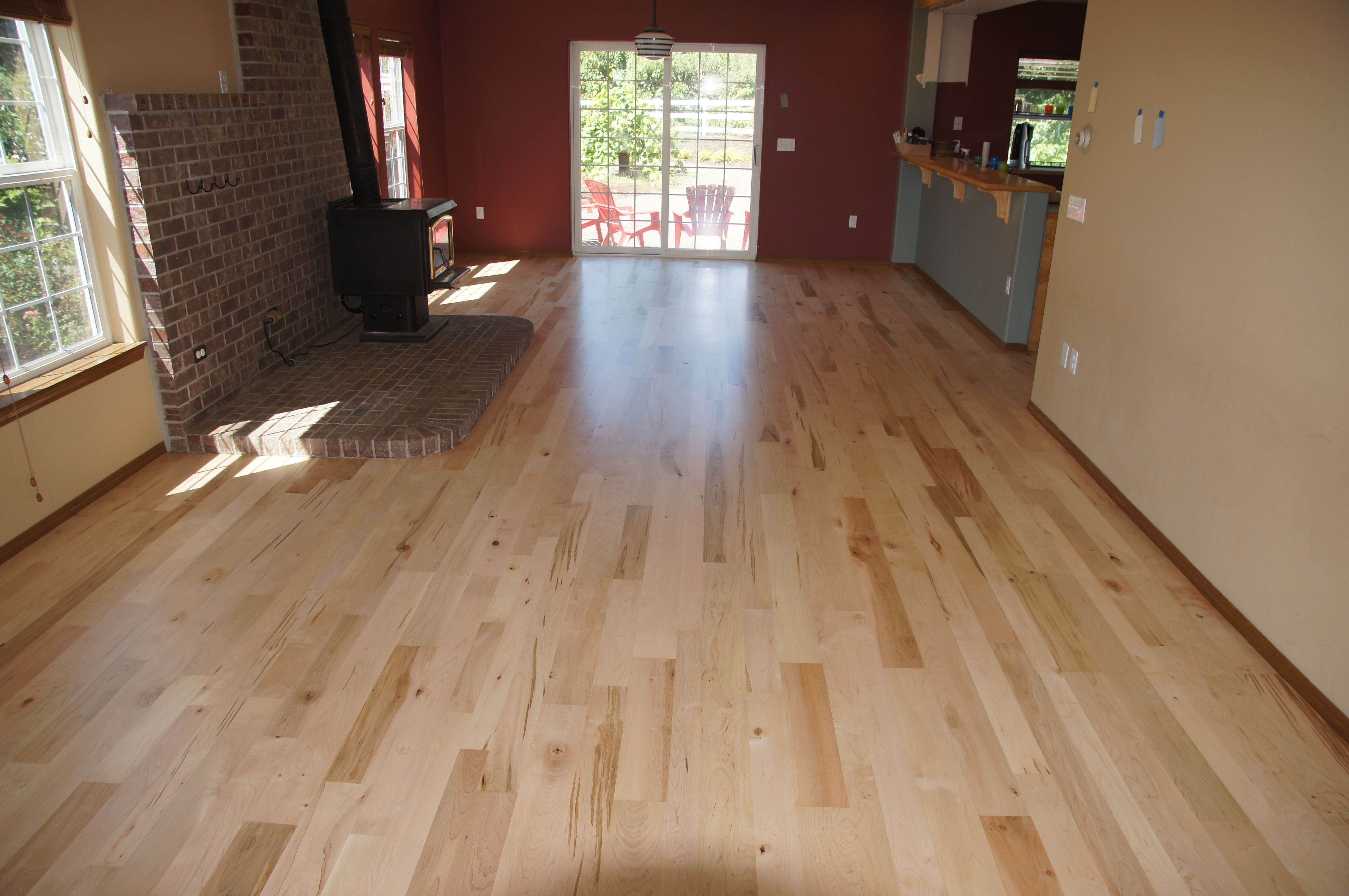 Refinish done in Portland Oregon Floor is made from