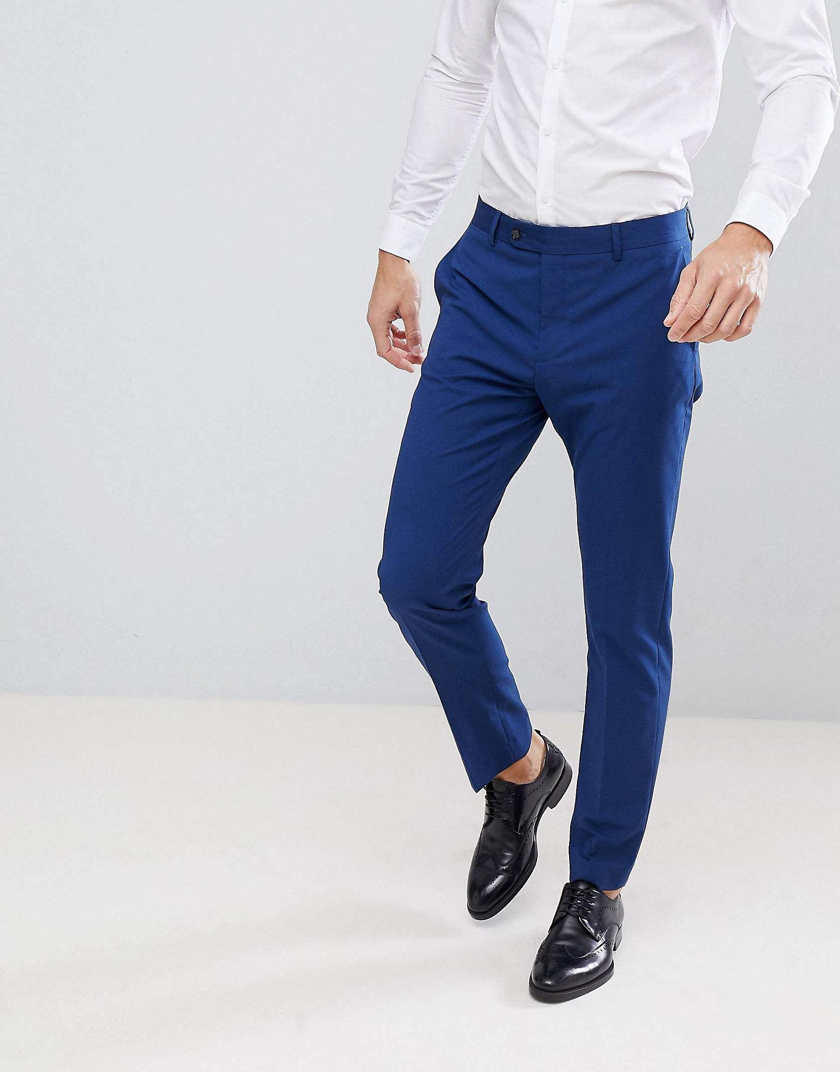 Just When I Thought I Didn T Need Something New From Asos I Kinda Do Blue Pants Men Slim Fit Suit Pants Mens Pants Fashion [ 2153 x 1687 Pixel ]