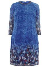 Little Mistress Blue Printed Tunic Dress