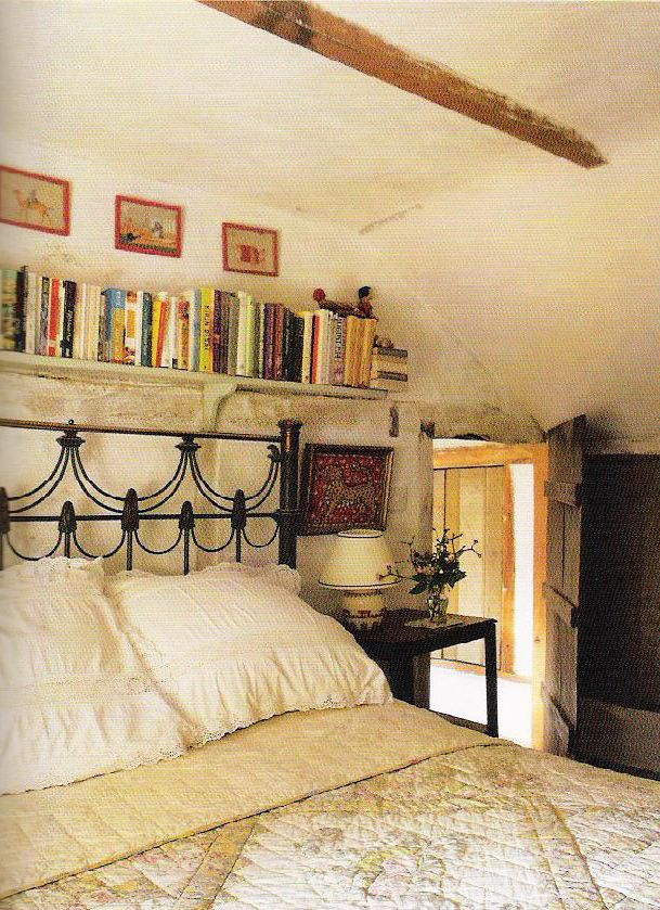 books over the bed