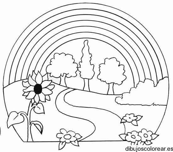Lindos Paisajes Para Dibujar Para Ninos Jpg 550 483 Pixeles Dibujos Para Colorear Paisajes Paisaje Para Colorear Paisajes Dibujos
