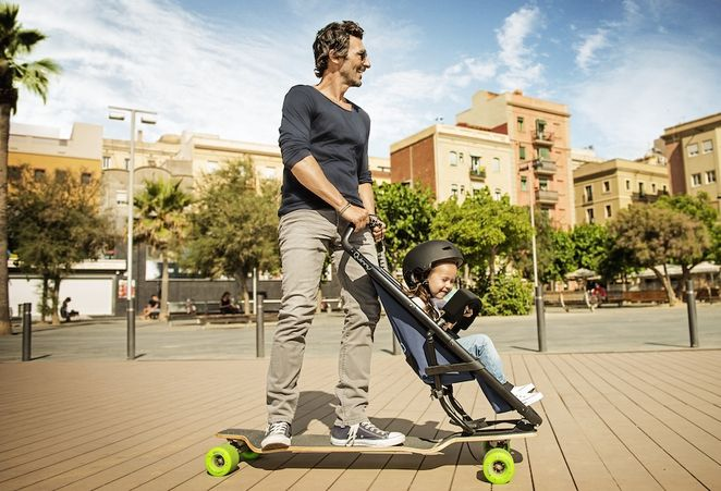 Fesselnd This Longboard Stroller Might Be The Most Exciting Way To Get Around With A  Child