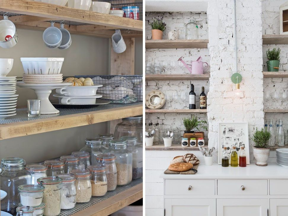 How To Style Open Kitchen Shelves...seriously Dying...those Rustic