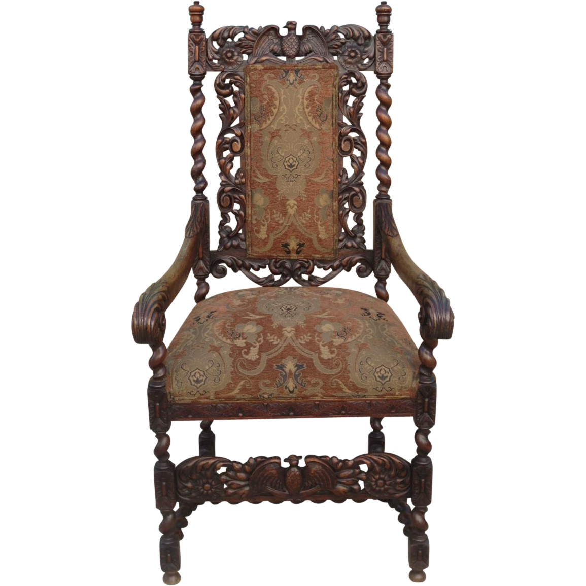 French Antique Armchair Antique Carved Chair Antique Furniture