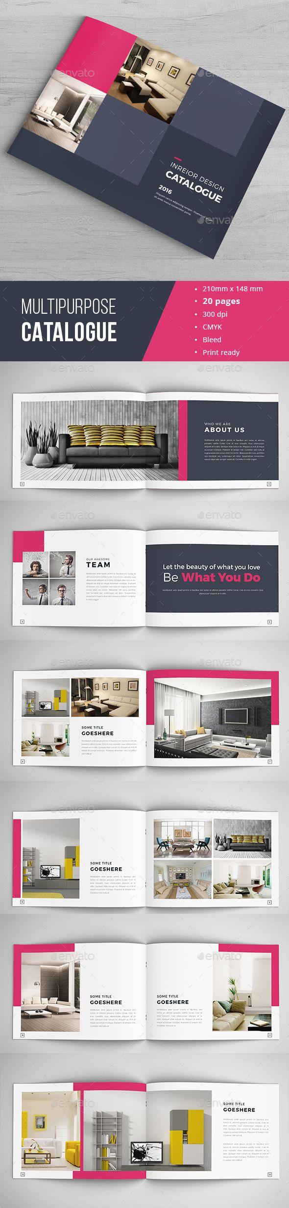 Minimal Indesign Catalogue | Diseño editorial, Editorial y Impreso