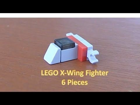 How To Build A LEGO Star Wars Mini X-Wing Fighter 6 Pieces | LEGO ...
