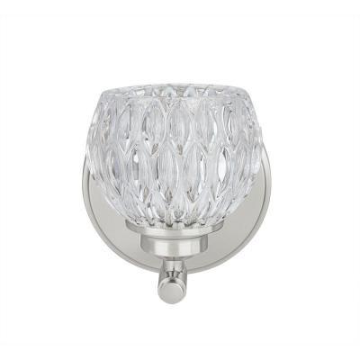Photo of Aspen Creative Corporation 1-Light Brushed Nickel Vanity Light with Glass Shade