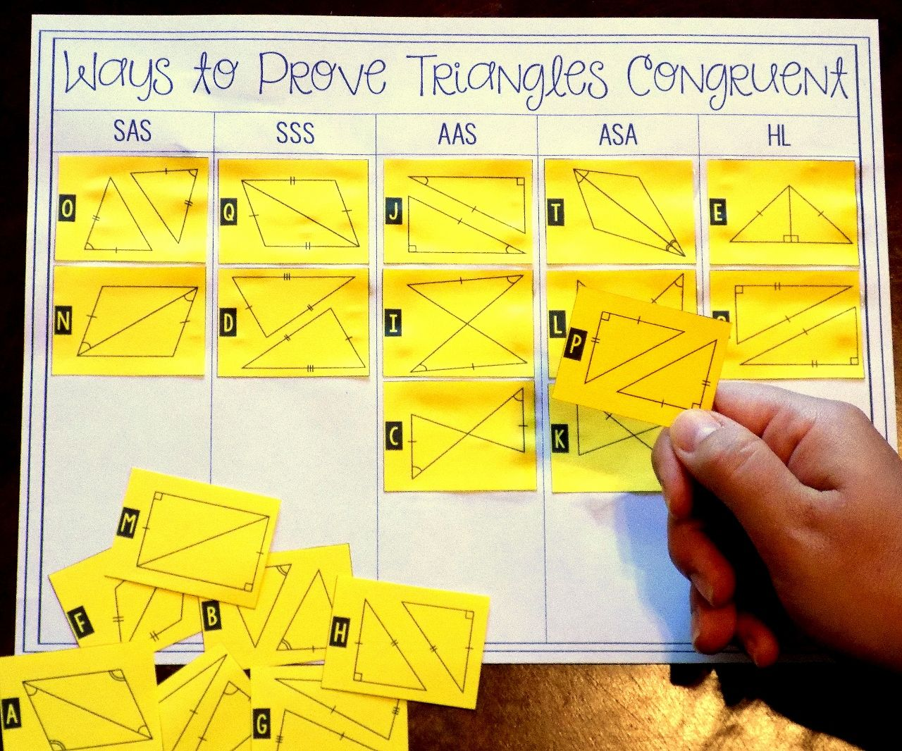 Proving Triangles Congruent Card Sort Teaching geometry