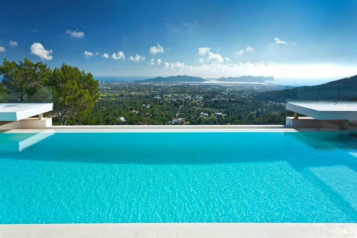 Can Koi Ibiza Spain With Over 500 M Of Stylish Ibiza Town Luxury Villa Infinity Pool