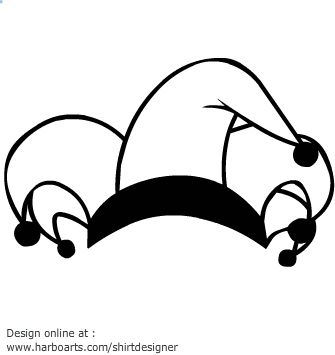 Joker Hat Line Art Clip Art