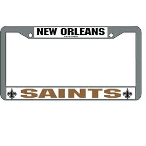 Rico Industries New Orleans Saints NFL Chrome License Plate Frame ...